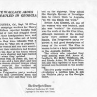"""Five Wallace Aides Mauled in Georgia"""