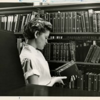 Woman in Stacks